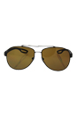 Prada SPS 55Q UEA-5Y1 - Brown Rubber/Brown Polarized by Prada for Men - 62-14-140 mm Sunglasses