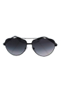 Prada SPS 51N 1BO-5W1 - Black Demi Shiny/Gray Gradient Polarized by Prada for Men - 63-12-135 mm Sunglasses