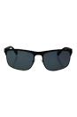 Prada SPS 56P DG0-5Z1 - Black Rubber/Grey Polarized by Prada for Men - 60-18-135 mm Sunglasses