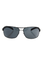Prada SPS 54I 1BO-1A1 - Matte Black/Grey by Prada for Men - 65-14-125 mm Sunglasses