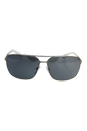 Prada SPS 54O 1AP-7W1 - Silver/Silver by Prada for Men - 64-13-125 mm Sunglasses