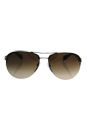 Prada SPS 56M 5AV-6S1 - Gunmetal/Brown Gradient by Prada for Men - 65-14-130 mm Sunglasses