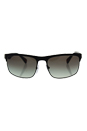 Prada SPS 56P DG0-0A7 - Black Rubber/Grey Gradiente by Prada for Men - 60-18-135 mm Sunglasses