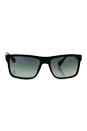 Prada SPR 01S SL3-2D0 - Brushed Matte Black/Grey Grandient by Prada for Men - 57-18-145 mm Sunglasses
