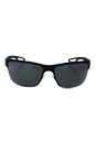 Prada SPS 50Q DG0-1A1 - Black Rubber/Dark Grey by Prada for Men - 64-18-130 mm Sunglasses