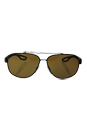 Prada SPS 58Q DG0-5Y1 - Black Rubber/Brown Polarized by Prada for Men - 60-12-140 mm Sunglasses
