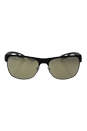 Prada SPS 57Q UBY-1C0 - Brown Rubber/Steel Rubber/Gold Light Brown by Prada for Men - 58-16-140 mm Sunglasses