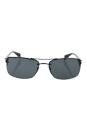 Prada SPS 50N 1BO-1A1 - Black Demi Shiny/Gray by Prada for Men - 62-16-130 mm Sunglasses