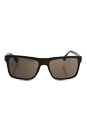 Prada SPR 01S TV6-4S0 - Brushed Matte Brown/Dark Brown by Prada for Men - 57-18-145 mm Sunglasses