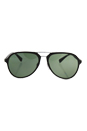 Prada SPS 05R UB0-5X1 - Brown Rubber/Green Polarized by Prada for Men - 58-17-135 mm Sunglasses