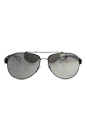 Prada SPS 55Q TIG-2B0 - Grey Rubber/Light Grey Silver by Prada for Men - 62-14-140 mm Sunglasses