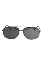 Prada SPS 56R DG1-5K0 - Brown/Lead Rubber/Dark Brown Silver Polarized by Prada for Men - 60-14-140 mm Sunglasses