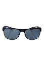 Prada SPS 57Q DG0-5Z1 - Black Rubber/Grey Polarized by Prada for Men - 58-16-140 mm Sunglasses