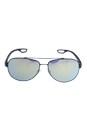 Prada SPS 55Q TIG-4J2 - Grey Rubber/Emerald Iridium by Prada for Men - 59-14-140 mm Sunglasses
