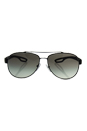 Prada SPS 55Q DG0-0A7 - Black Rubber/Grey Gradient by Prada for Men - 59-14-140 mm Sunglasses