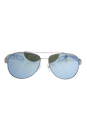 Prada SPS 55Q QFP-5K2 - Silver Rubber/Green Silver by Prada for Men - 59-14-140 mm Sunglasses