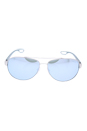 Prada SPS 55Q QFP-5K2 - Silver Rubber/Green Silver by Prada for Men - 62-14-140 mm Sunglasses