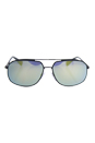 Prada SPS 56R TIG-4J2 - Grey Rubber/Green by Prada for Men - 60-14-140 mm Sunglasses