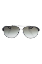 Prada SPS 58Q DG0-0A7 - Black Rubber/Grey Gradient by Prada for Men - 60-12-140 mm Sunglasses