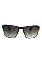 Prada SPR 55S TKM-0A7 - Matte Grey/Grey Gradient by Prada for Men - 55-17-140 mm Sunglasses