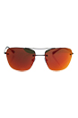 Prada SPS 52R 7AX-5L0 - Gunmetal/Brown Orange by Prada for Men - 56-16-135 mm Sunglasses