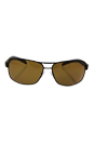 Prada SPS 54I UEA-5Y1 - Brown Rubber/Brown Polarized by Prada for Men - 65-14-125 mm Sunglasses