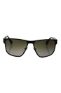 Prada SPR 55S LAH-1X1 - Matte Brown/Brown Gradient by Prada for Men - 55-17-140 mm Sunglasses