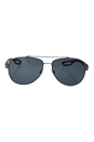 Prada SPS 55Q DG1-5Z1 - Gunmetal Rubber/Grey Polarized by Prada for Men - 59-14-140 mm Sunglasses