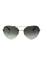 Prada SPS 57R 1BC-0A7 - Silver/Grey Gradient by Prada for Men - 59-16-135 mm Sunglasses