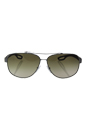 Prada SPS 58Q DG1-1X1 - Gunmetal Rubber/Brown Gradient by Prada for Men - 63-12-140 mm Sunglasses