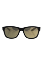 Prada SPS 03Q DG0-1C0 - Black Rubber/Light Brown Gold by Prada for Men - 57-17-145 mm Sunglasses