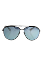 Prada SPS 55R DG1-5K0 - Brown/Lead Rubber/Dark Brown Silver Polarized by Prada for Men - 59-14-140 mm Sunglasses