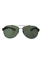 Prada SPS 55Q DG0-5X1 - Black Matte/Green Polarized by Prada for Men - 62-14-140 mm Sunglasses