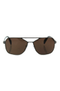 Prada SPR 54R 75S-8C1 - Brushed Gunmetal/Brown by Prada for Men - 60-15-140 mm Sunglasses