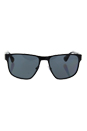 Prada SPR 55S 7AX-5Z1 - Black/Grey Polarized by Prada for Men - 55-17-140 mm Sunglasses