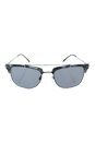 Burberry BE 4202Q 3533/T8 - Brushed Gunmetal/Dark Grey Polarized by Burberry for Men - 54-19-145 mm Sunglasses