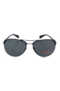 Prada SPS 56M 1BO-1A1 - Semi Shiny Black/Grey by Prada for Men - 65-14-144 mm Sunglasses