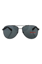 Prada SPS 51O 1BO-1A1 - Black Demi Shiny/Gray by Prada for Men - 62-14-135 mm Sunglasses
