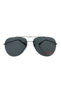 Prada SPS 50P 1BO-1A1 - Black Demi Shiny/Gray by Prada for Men - 63-13-140 mm Sunglasses