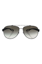 Prada SPS 55Q DG0-0A7 - Black Rubber/Grey Gradient by Prada for Men - 62-14-140 mm Sunglasses