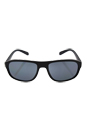 Prada SPS 01R DG0-5Z1 - Black Rubber/Grey Polarized by Prada for Men - 58-18-135 mm Sunglasses