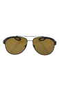 Prada SPS 55Q UEA-5Y1 - Brown Rubber/Brown Polarized by Prada for Men - 59-14-140 mm Sunglasses
