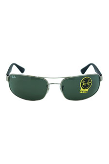 RB 3445 4 Gun Metal/Black W/ Green G-15 Lens by Ray Ban for Unisex - 61-17-130 mm Sunglasses
