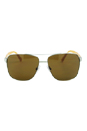 Dolce & Gabbana DG 2131 1242/73 - Matte Silver Yellow/Brown by Dolce & Gabbana for Unisex - 60-14-145 mm Sunglasses