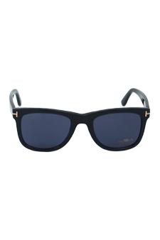 Tom Ford TF336 Leo 01V - Shiny Black/ Blue by Tom Ford for Unisex - 52-21-145 mm Sunglasses