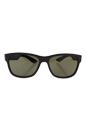 Prada SPS 03Q UB0-4J1 - Brown Rubber/Drak Green by Prada for Unisex - 57-17-145 mm Sunglasses