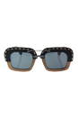 Prada SPR 26R UA6-1A1 - Nut Canaletto Black Leather/Grey Gradient by Prada for Unisex - 51-25-140 mm Sunglasses