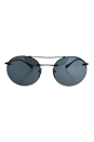 Prada SPS 54R 7AX-5L0 - Black/Light Grey Black by Prada for Unisex - 56-18-135 mm Sunglasses