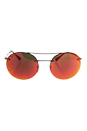 Prada SPS 54R 5AV-5M0 - Gunmetal/Brown Orange by Prada for Unisex - 56-18-135 mm Sunglasses