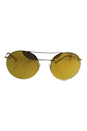 Prada SPS 54R ZVN-5N0 - Pale Gold/Brown Orange 24k Iridium by Prada for Unisex - 56-18-135 mm Sunglasses